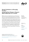 Scholarly article on topic 'Design Facilitation as Emerging Practice: Analyzing How Designers Support Multi-stakeholder Co-creation'