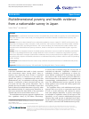 Scholarly article on topic 'Multidimensional poverty and health: evidence from a nationwide survey in Japan'