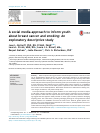 Scholarly article on topic 'A social media approach to inform youth about breast cancer and smoking: An exploratory descriptive study'