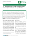 Scholarly article on topic 'The development of Brazilian agriculture: future technological challenges and opportunities'