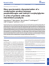 Scholarly article on topic 'Mass spectrometric characterisation of a condensation product between porphobilinogen and indolyl-3-acryloylglycine in urine of patients with acute intermittent porphyria'