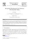Scholarly article on topic 'Integrating Refinement into Software Development Tools'
