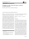 Scholarly article on topic 'The influence of carbon content in the mixture of substrates on methane production'