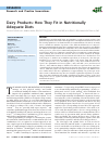 Scholarly article on topic 'Dairy Products: How They Fit in Nutritionally Adequate Diets'