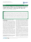 Scholarly article on topic 'Financing the Millennium Development Goals for health and beyond: sustaining the 'Big Push''