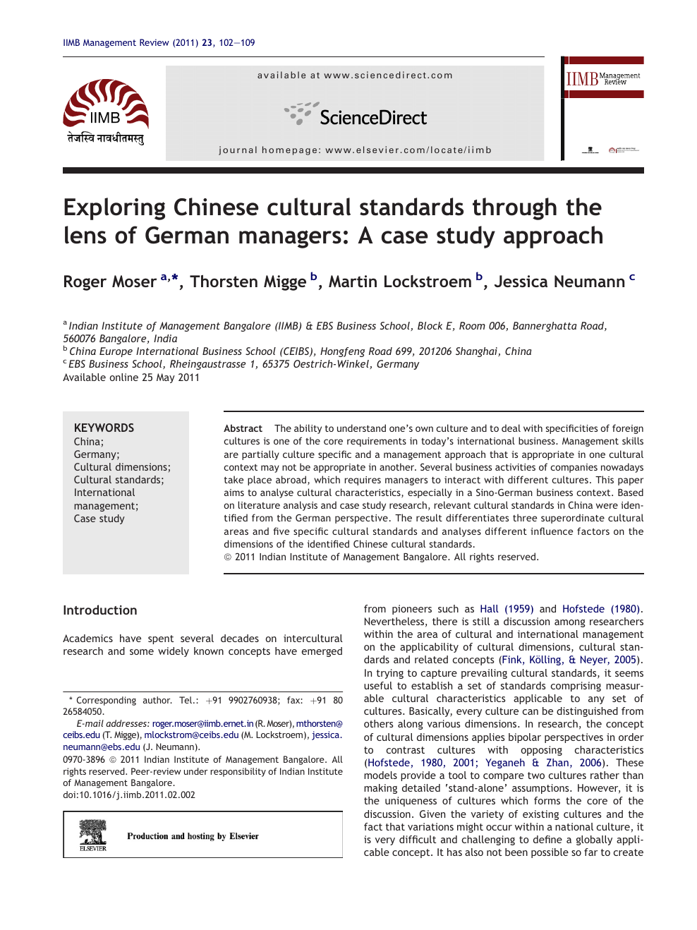 Exploring Chinese cultural standards through the lens of