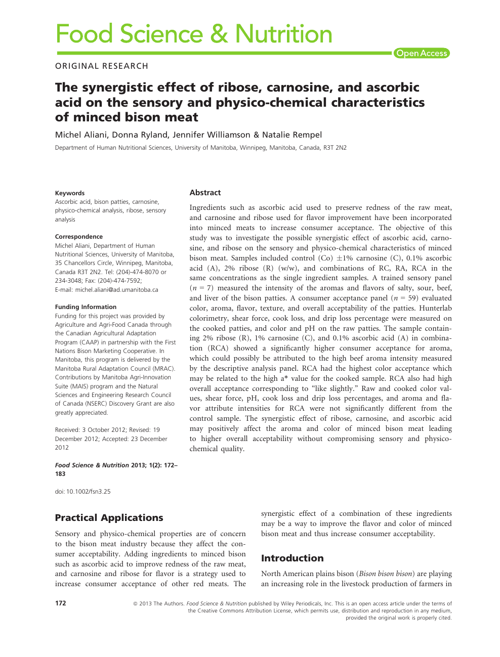 The synergistic effect of ribose, carnosine, and ascorbic acid on ...