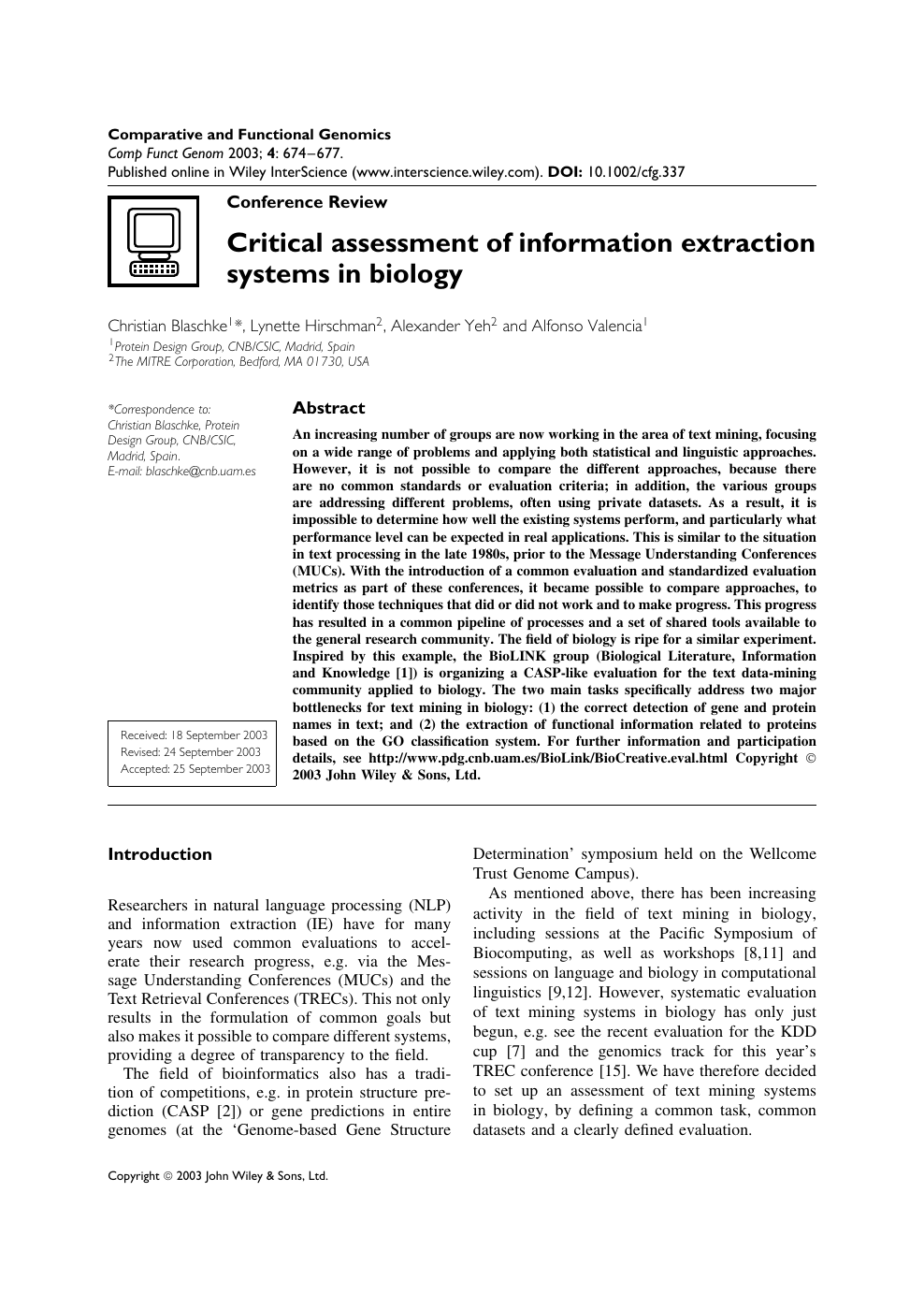 Critical Assessment of Information Extraction Systems in