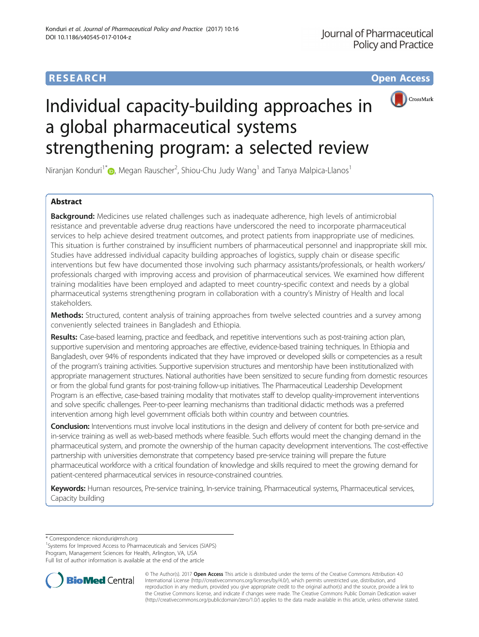 Individual capacity-building approaches in a global pharmaceutical