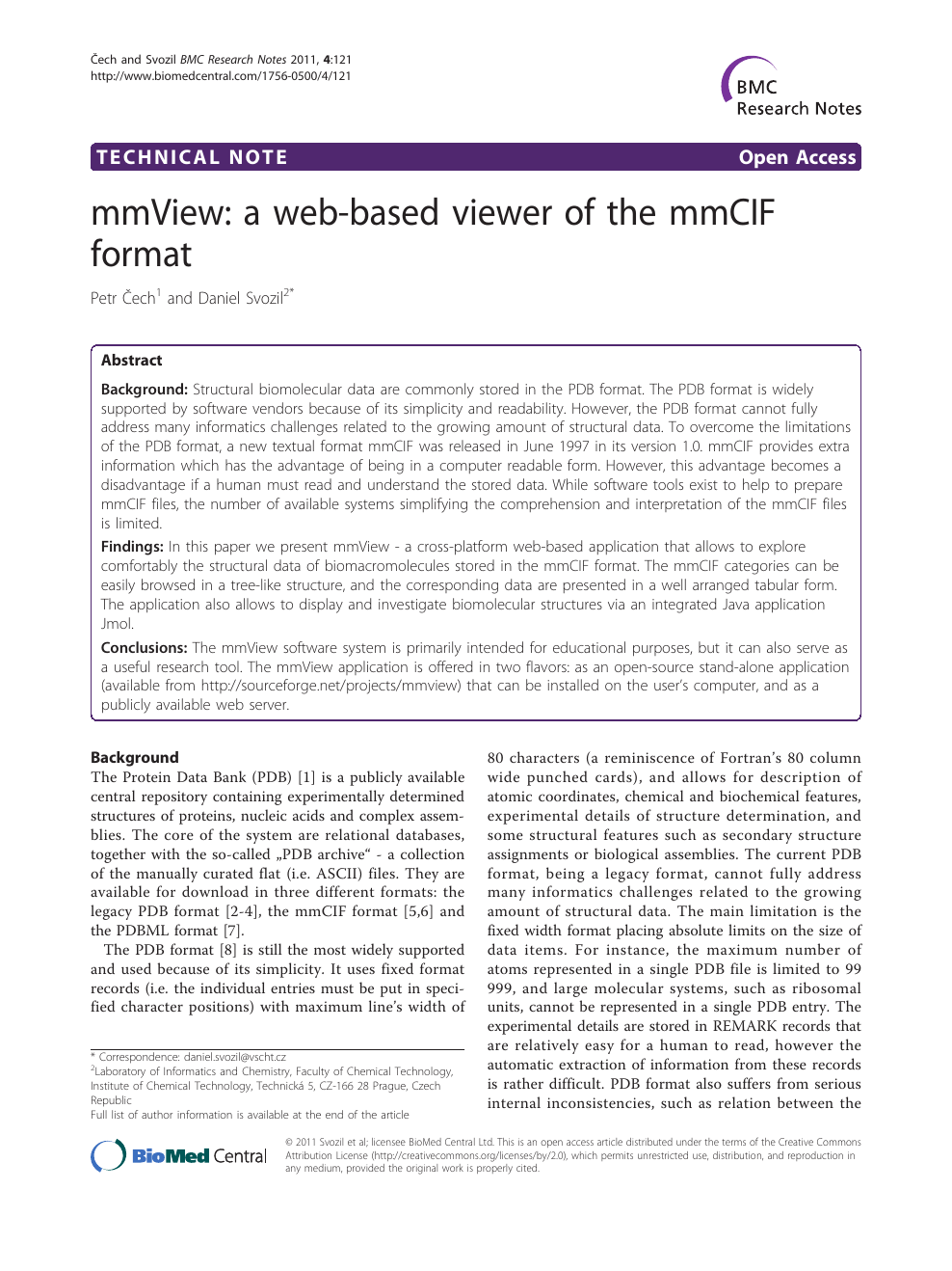 mmView: a web-based viewer of the mmCIF format – topic of