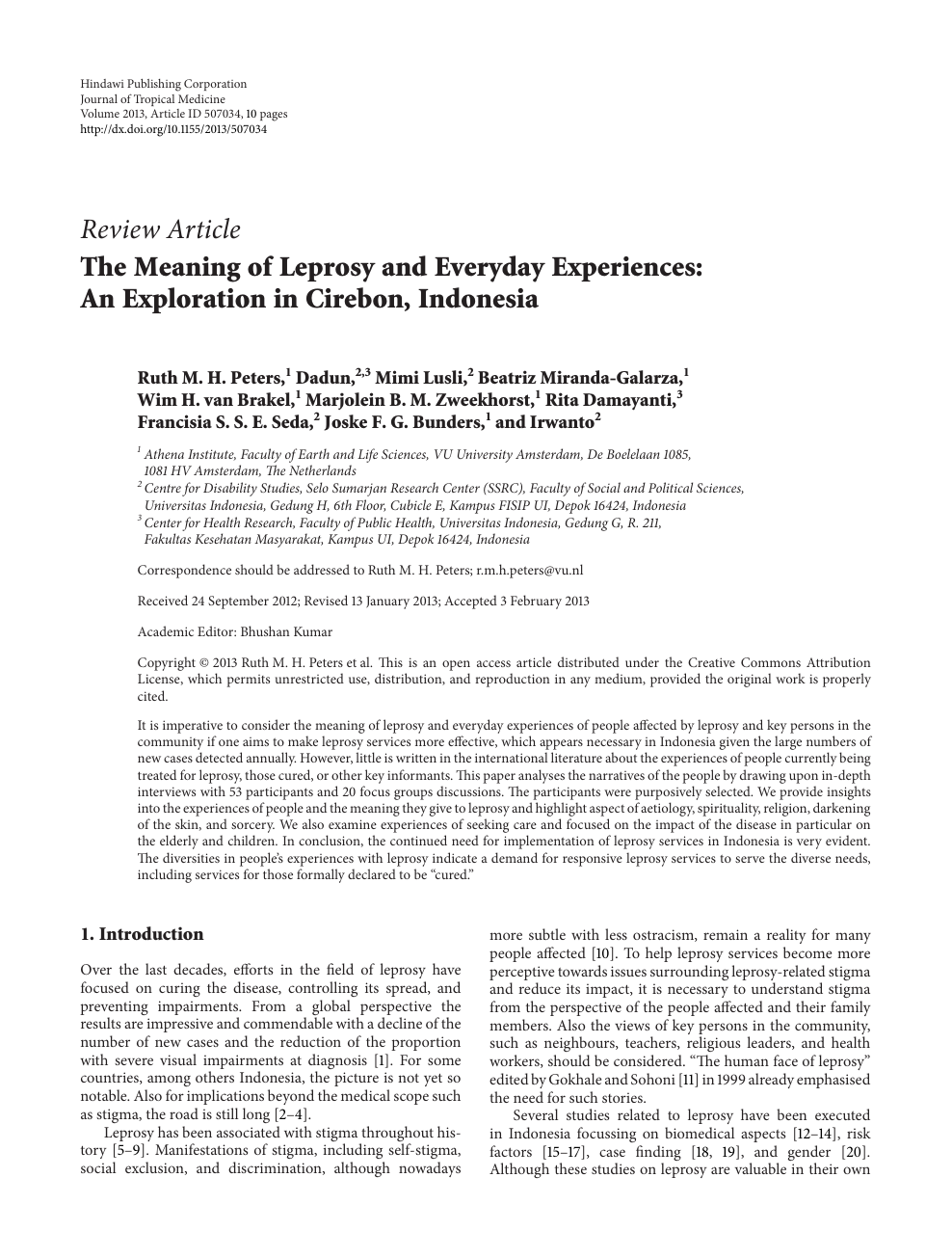 the meaning of leprosy and everyday experiences an exploration in