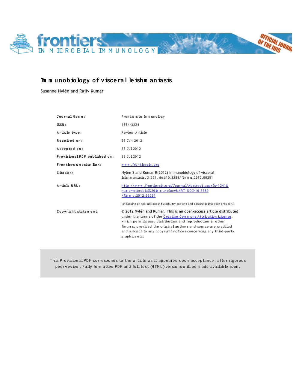 visceral leishmaniasis nephrotic syndrome