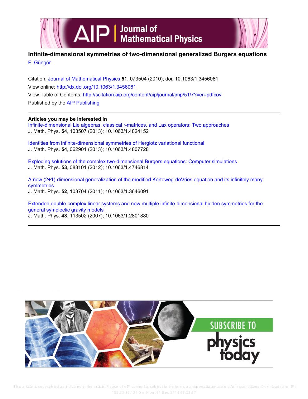 Infinite-dimensional symmetries of two-dimensional generalized