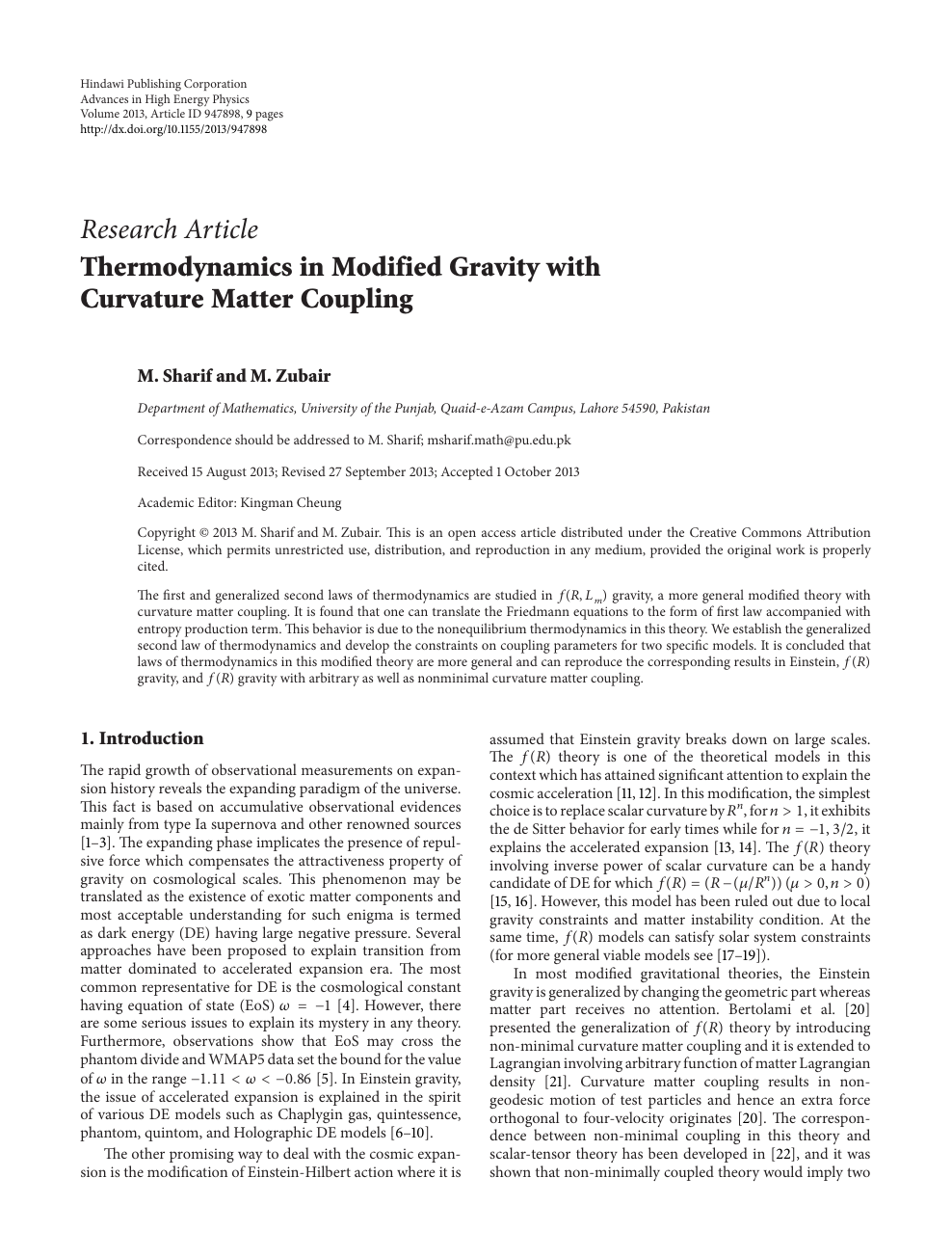 research paper on gravity