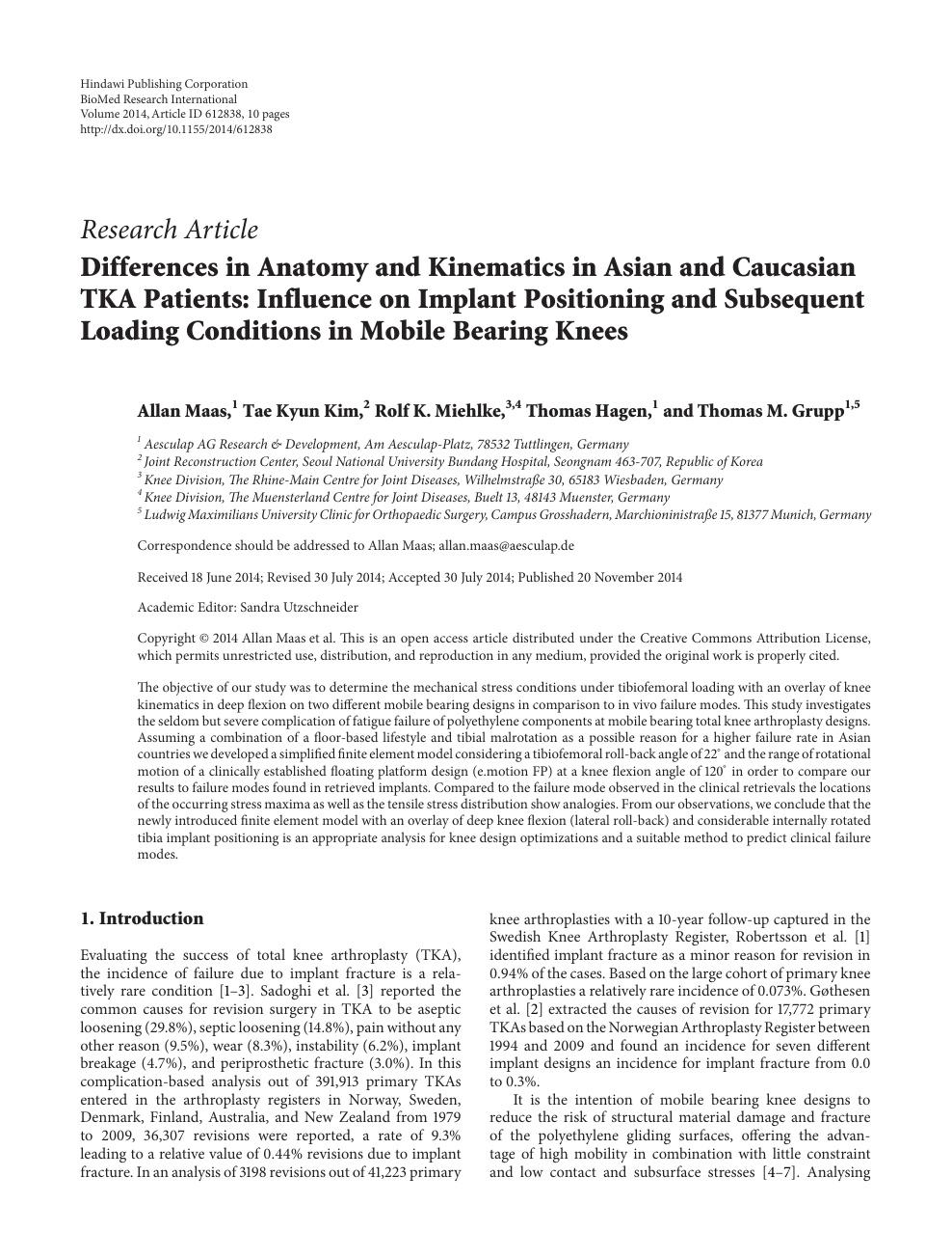 Differences In Anatomy And Kinematics In Asian And Caucasian Tka