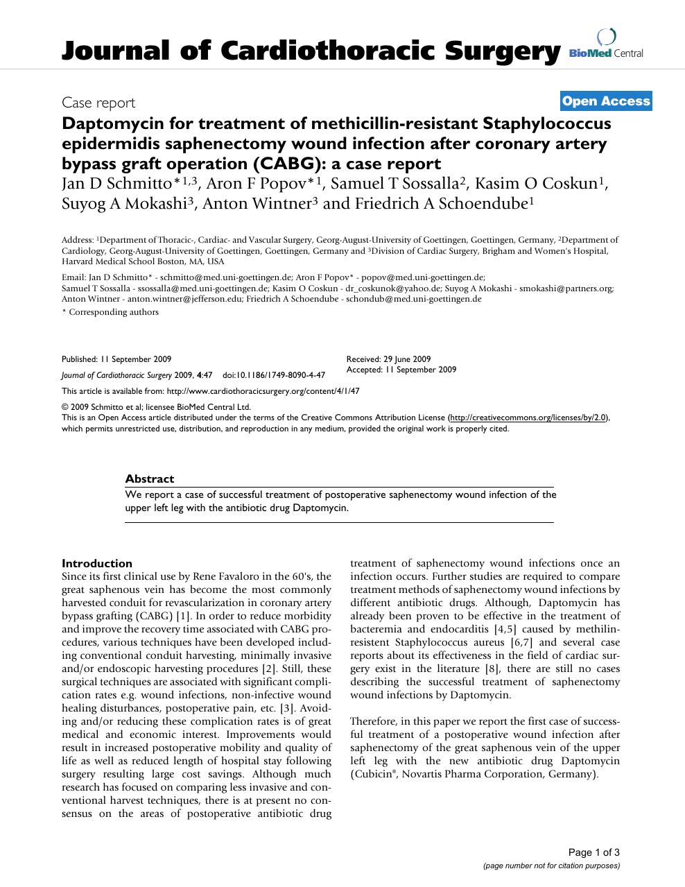 Daptomycin for treatment of methicillin-resistant Staphylococcus