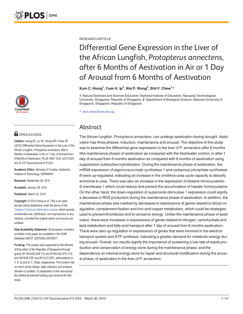 Differential Gene Expression in the Liver of the African