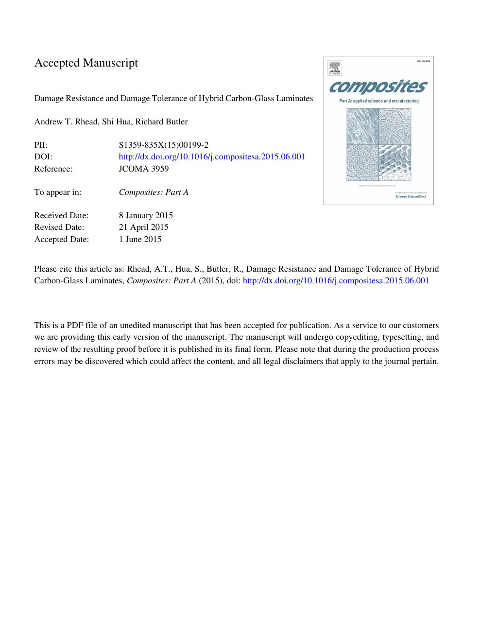 Damage resistance and damage tolerance of hybrid carbon