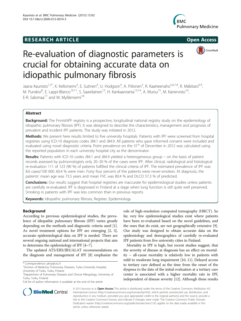 Re-evaluation of diagnostic parameters is crucial for