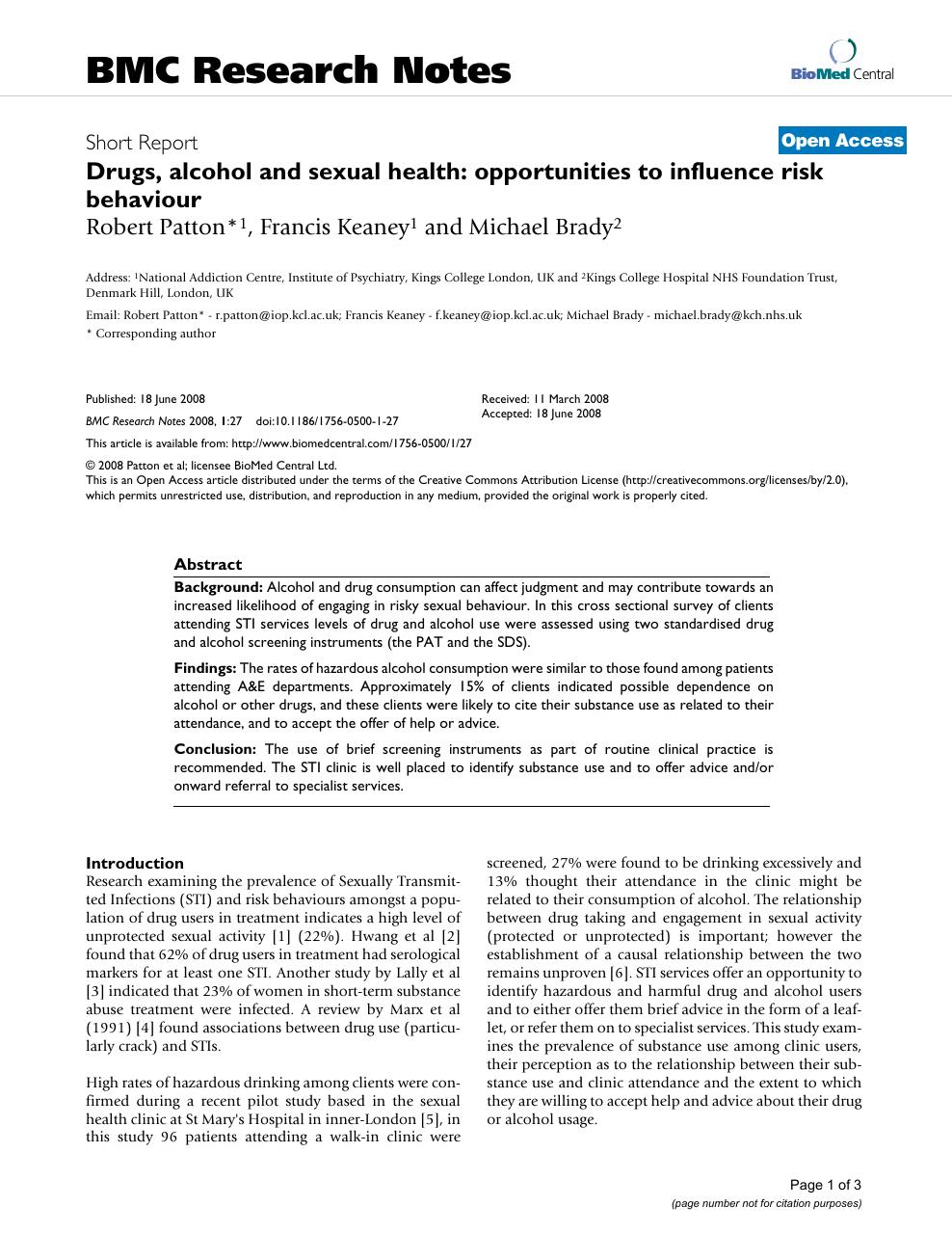 Sexual health nhs clinical trials