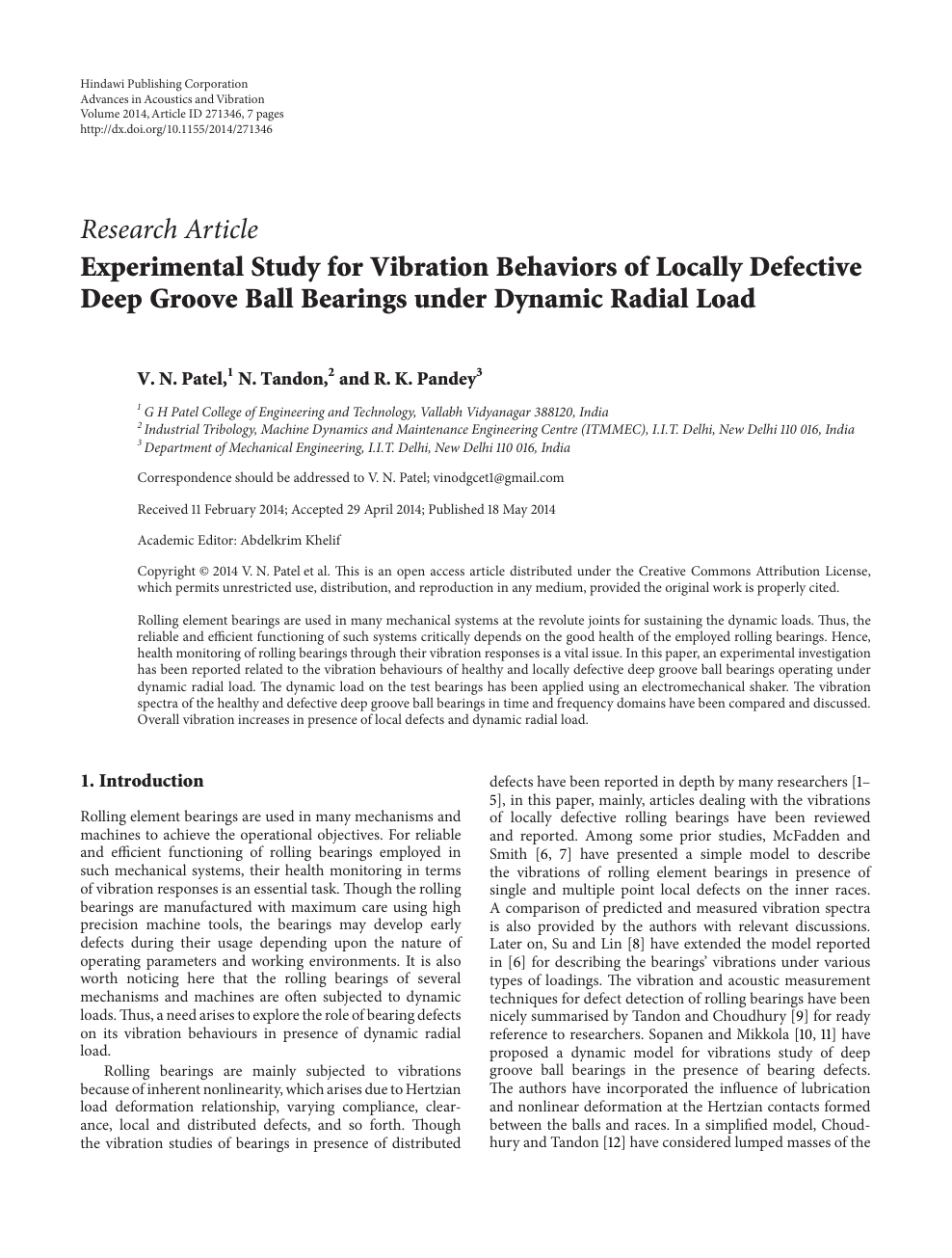 Experimental Study for Vibration Behaviors of Locally