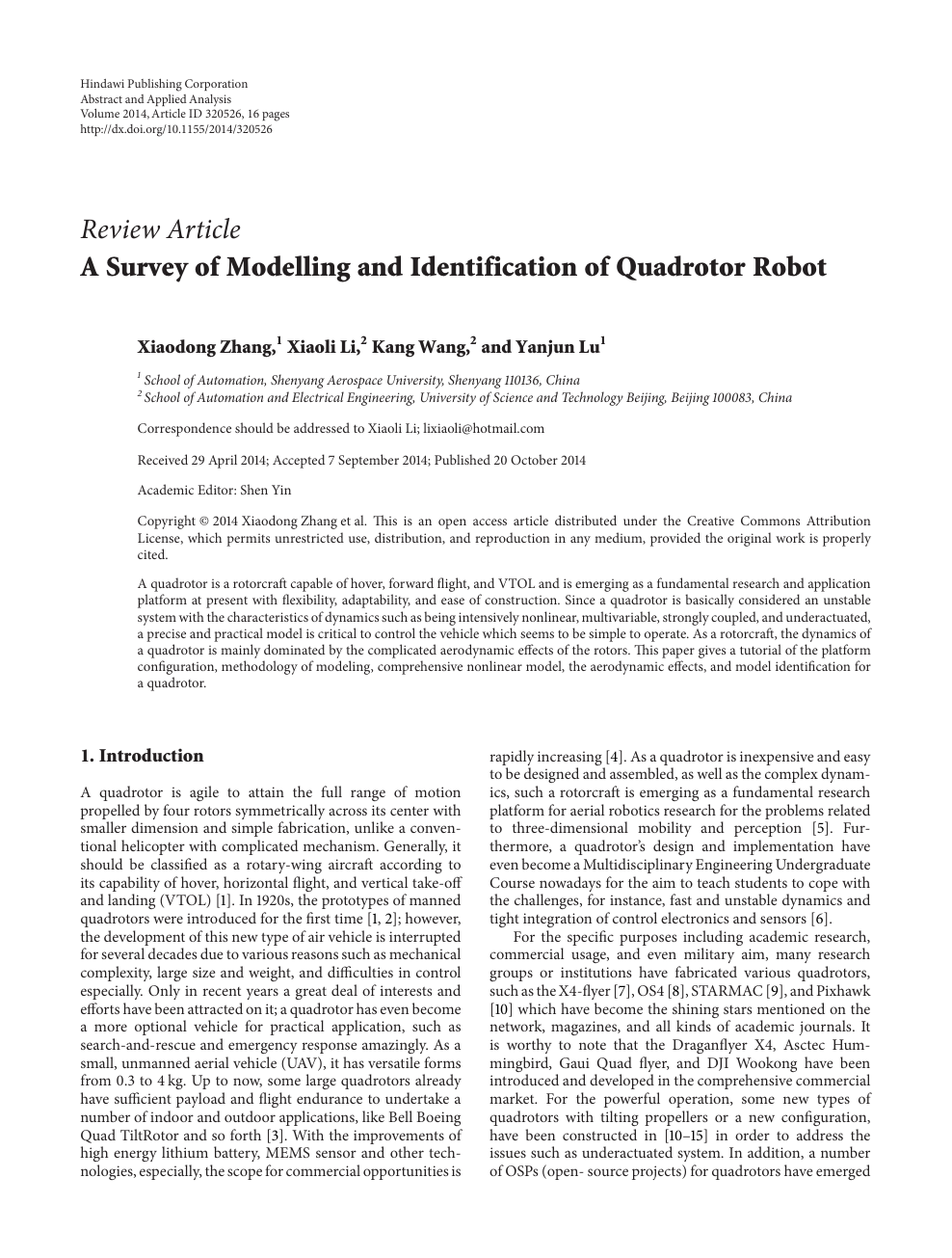 A Survey Of Modelling And Identification Quadrotor Robot Topic. Read Paper. Wiring. Electric Pto Switch Wiring Diagram 6 Poll At Scoala.co
