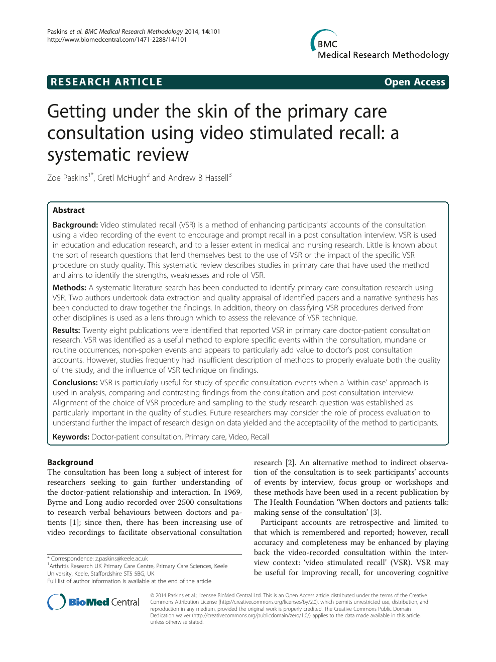 Getting under the skin of the primary care consultation