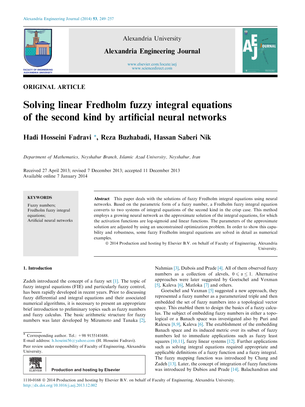 Solving linear Fredholm fuzzy integral equations of the