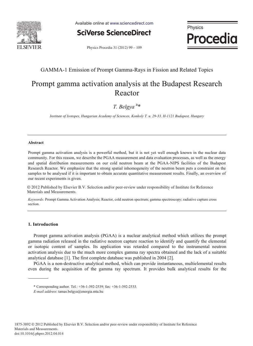 neutron activation analysis review pdf