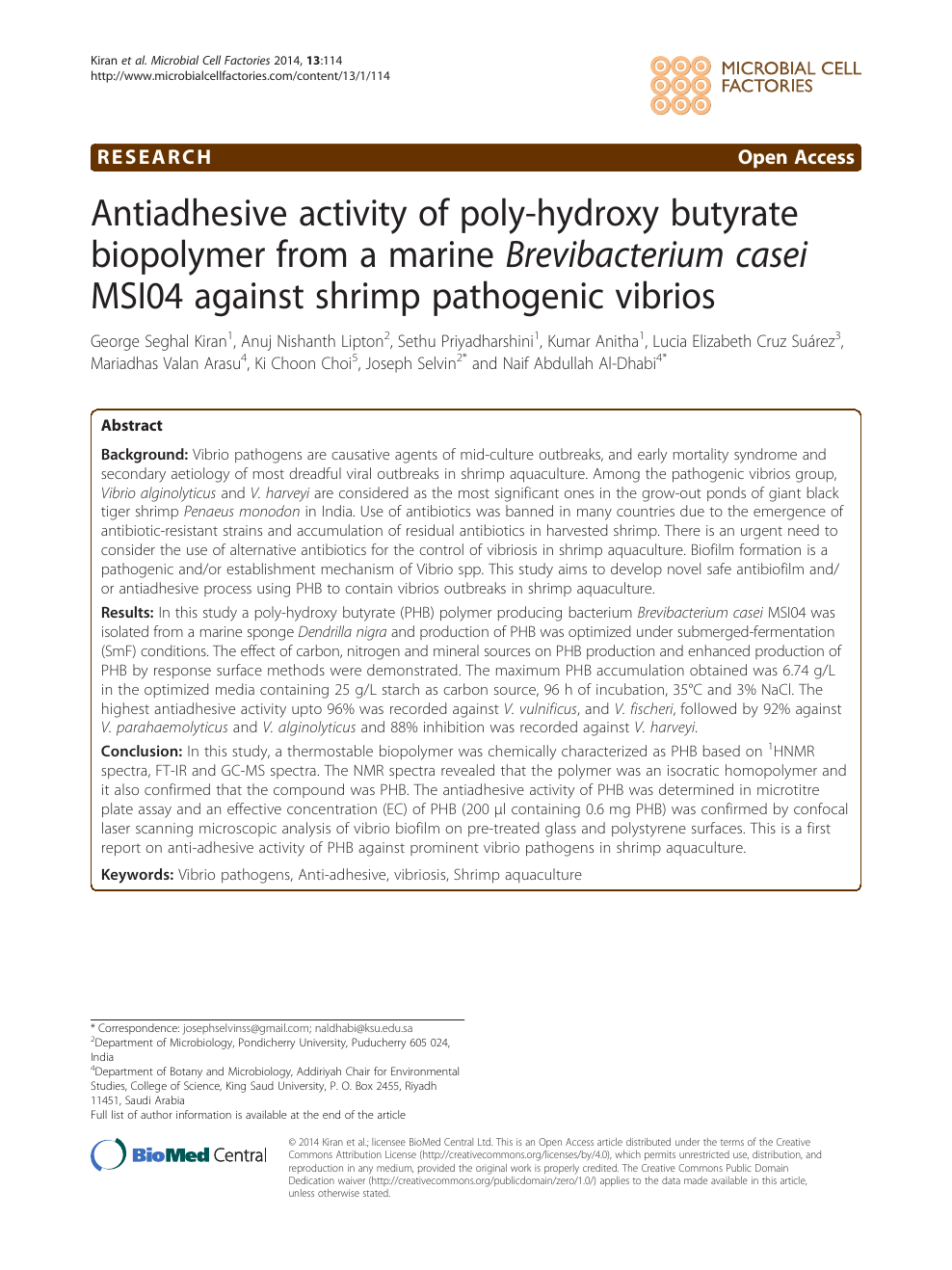 Antiadhesive activity of poly-hydroxy butyrate biopolymer