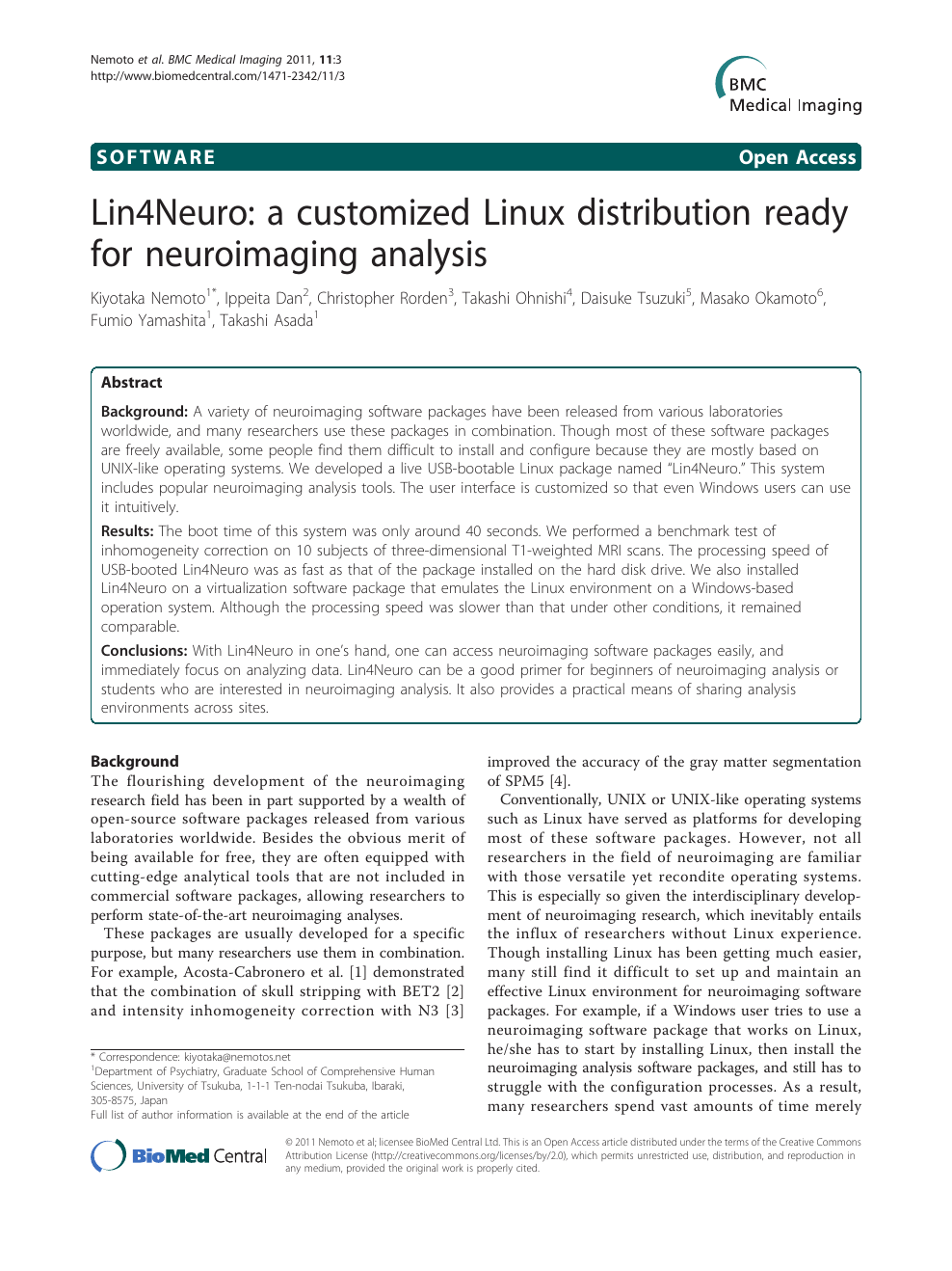 Lin4Neuro: a customized Linux distribution ready for