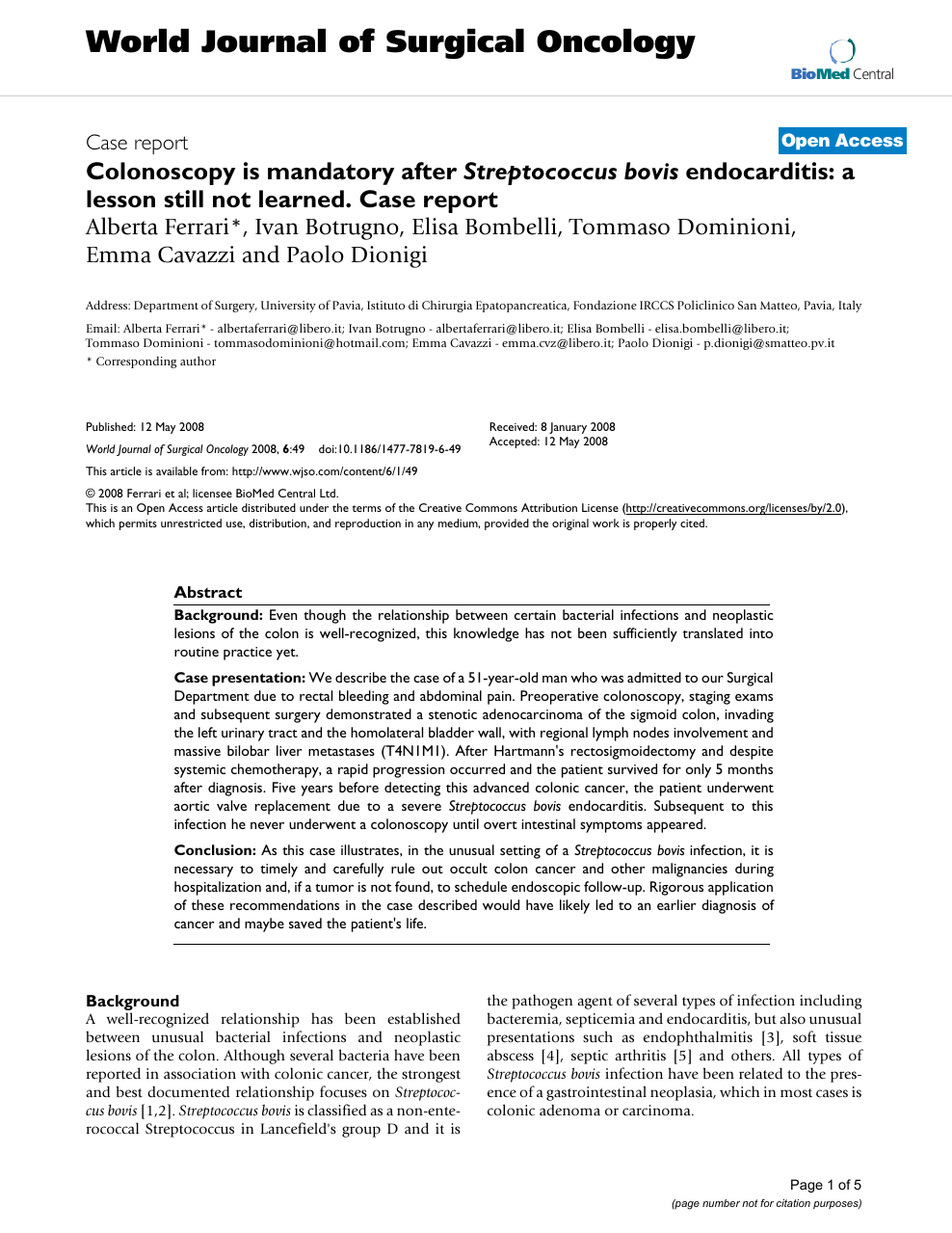 Colonoscopy Is Mandatory After Streptococcus Bovis Endocarditis A Lesson Still Not Learned Case Report Topic Of Research Paper In Clinical Medicine Download Scholarly Article Pdf And Read For Free On Cyberleninka