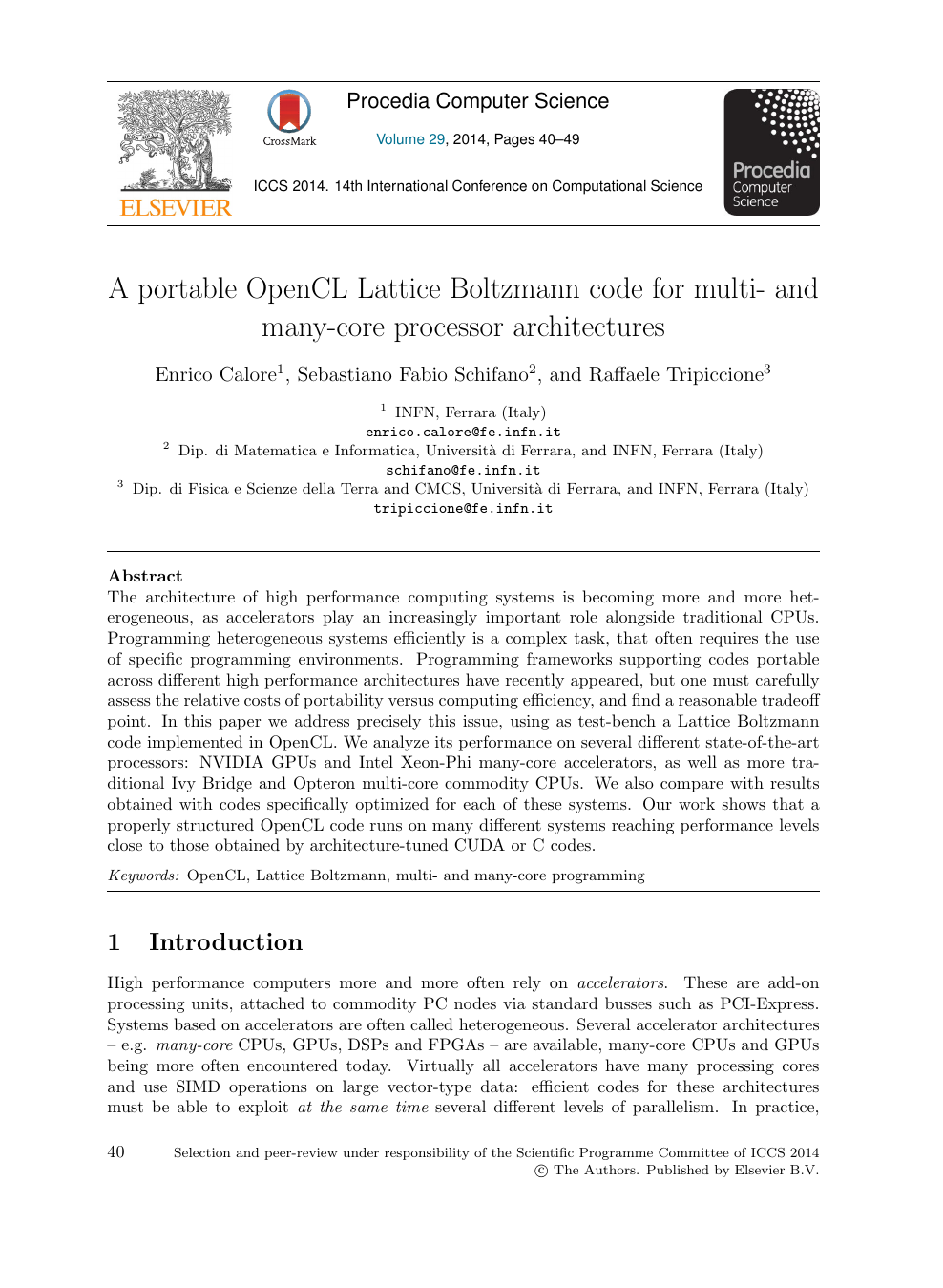 A Portable OpenCL Lattice Boltzmann Code for Multi- and Many