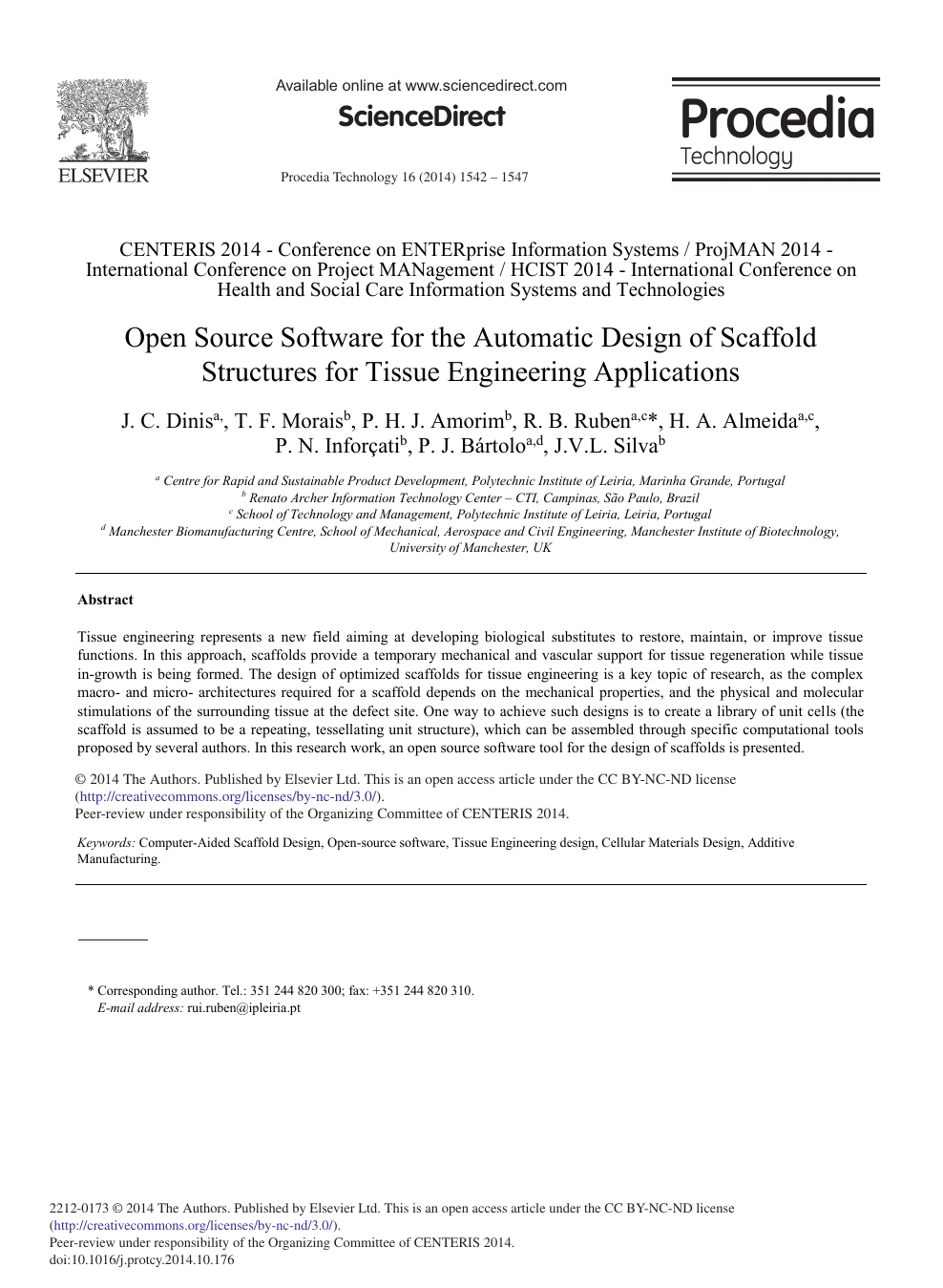 Open Source Software for the Automatic Design of Scaffold Structures