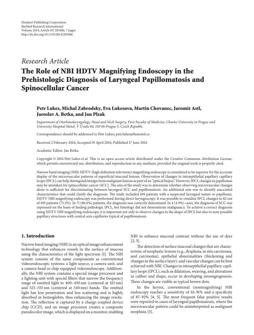 The Role of NBI HDTV Magnifying Endoscopy in the