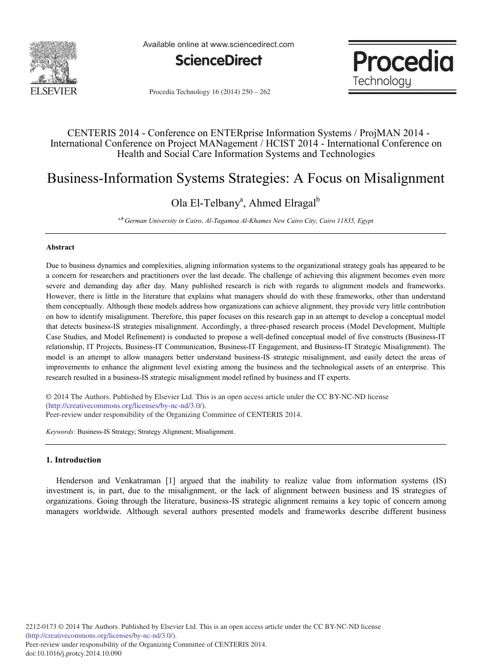 Business-information Systems Strategies: A Focus on