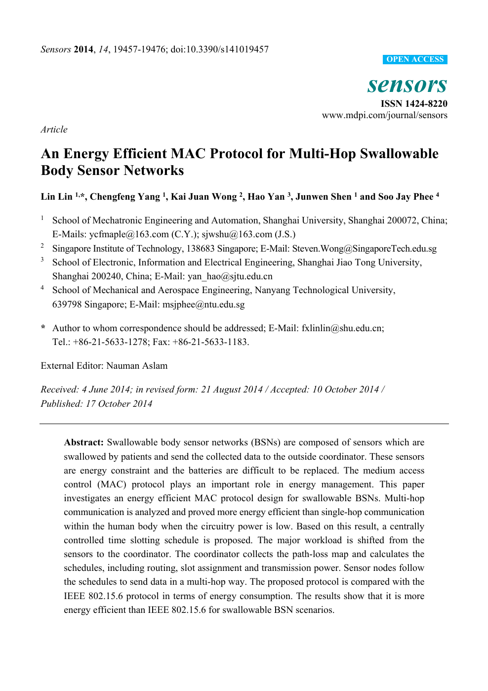 An Energy Efficient MAC Protocol for Multi-Hop Swallowable