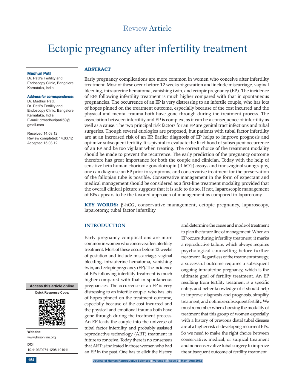 Ectopic pregnancy after infertility treatment – topic of