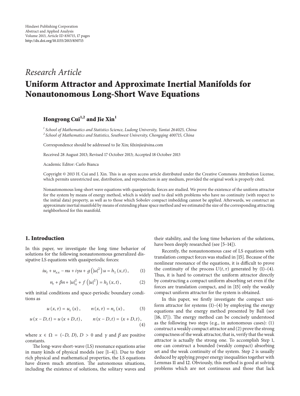Uniform Attractor and Approximate Inertial Manifolds for