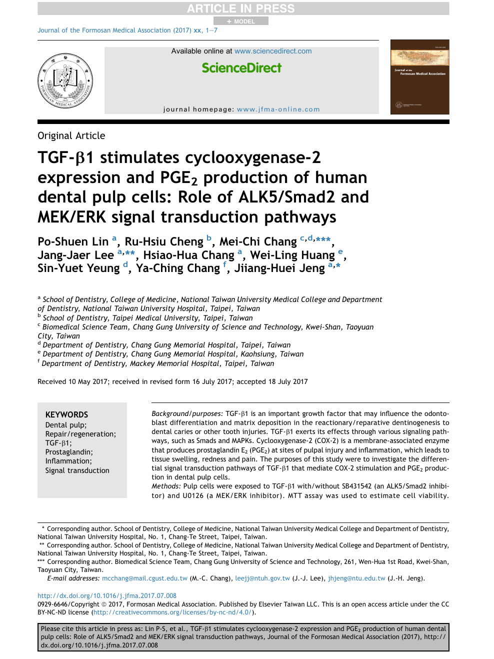 TGF-β1 stimulates cyclooxygenase-2 expression and PGE 2 production
