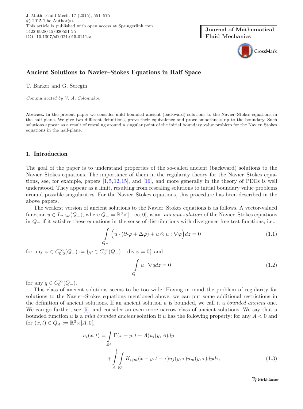 Ancient Solutions to Navier–Stokes Equations in Half Space