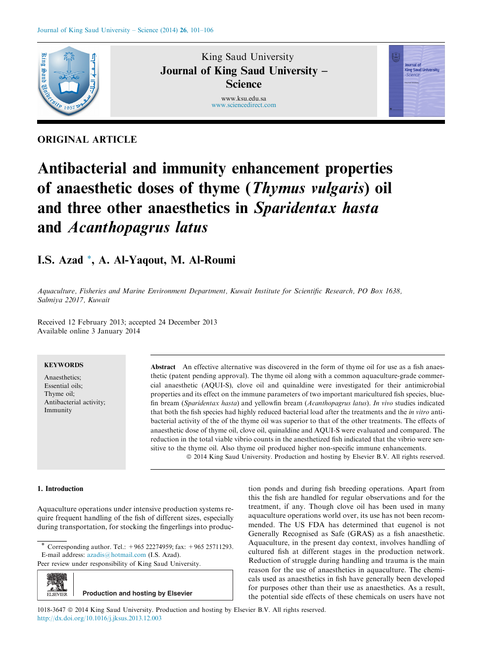 Antibacterial and immunity enhancement properties of