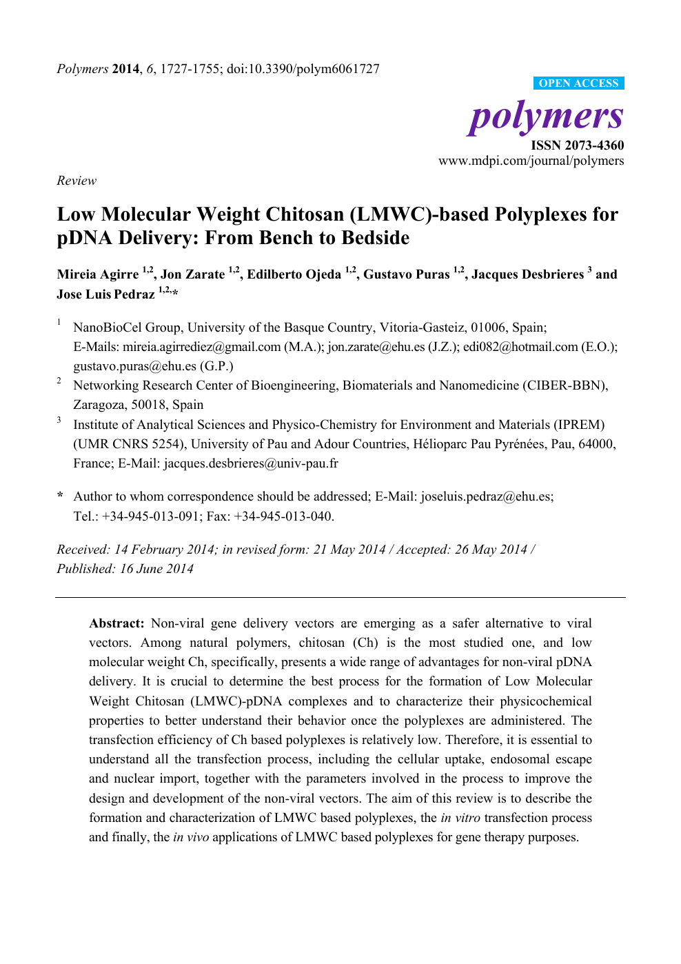 Low Molecular Weight Chitosan LMWC Based Polyplexes For PDNA