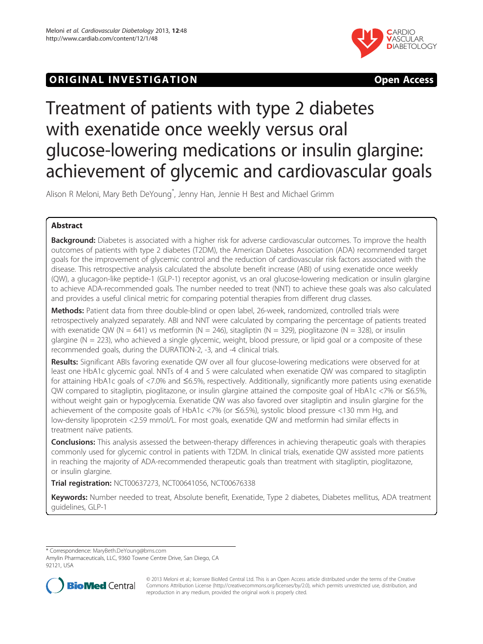 Treatment of patients with type 2 diabetes with exenatide