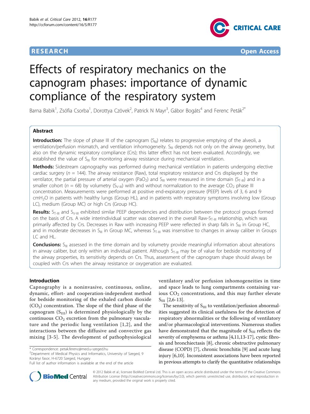 Effects of respiratory mechanics on the capnogram phases