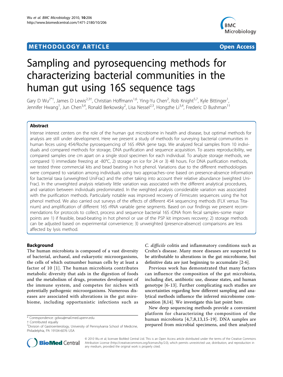 Sampling and pyrosequencing methods for characterizing