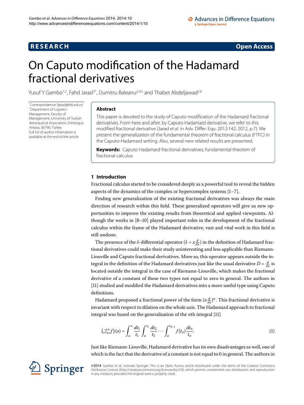 derivative research paper