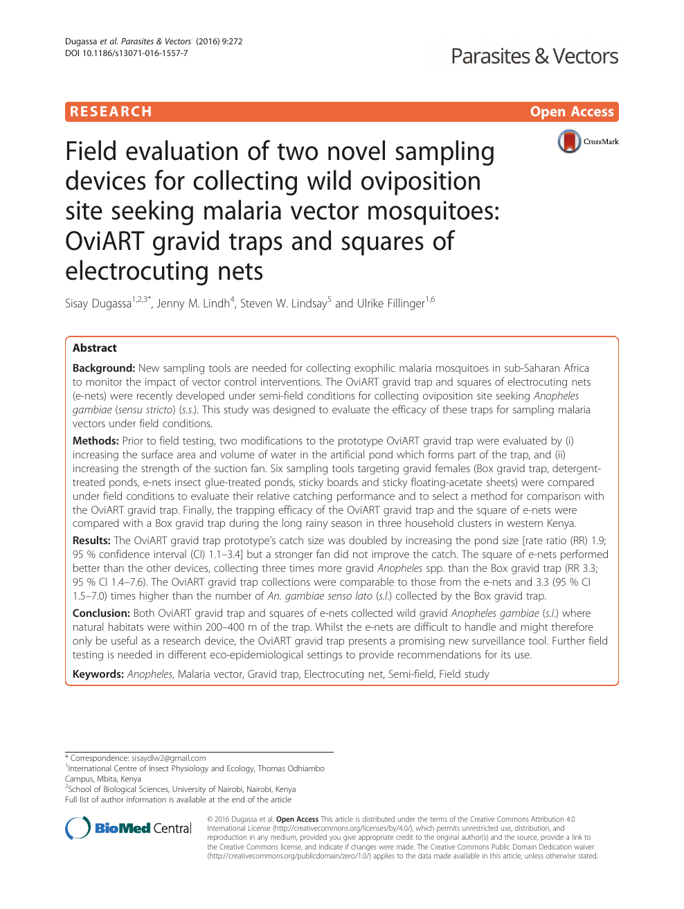 Field evaluation of two novel sampling devices for