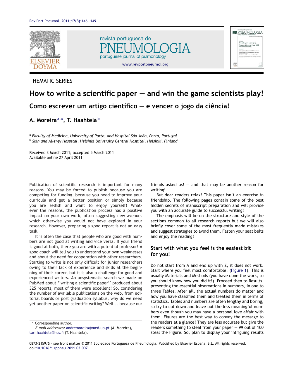 How to write a scientific paper – and win the game scientists play