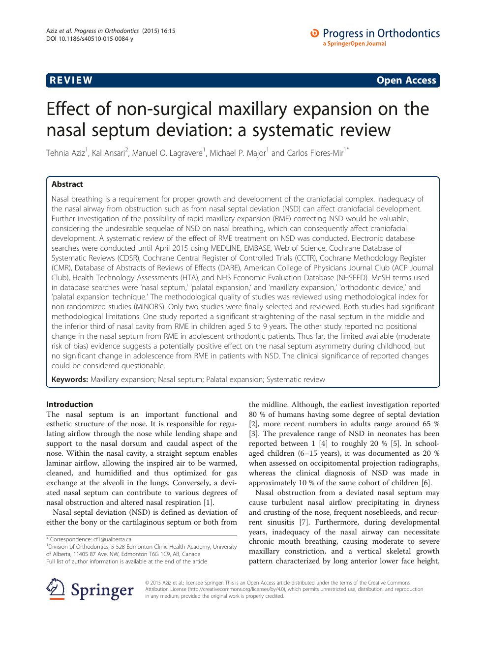 Effect of non-surgical maxillary expansion on the nasal